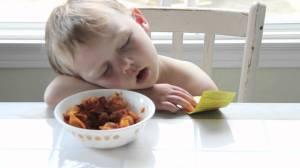 asleepatdinner