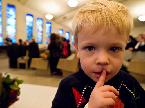 be-quiet-in-church