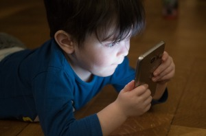 boy with phone